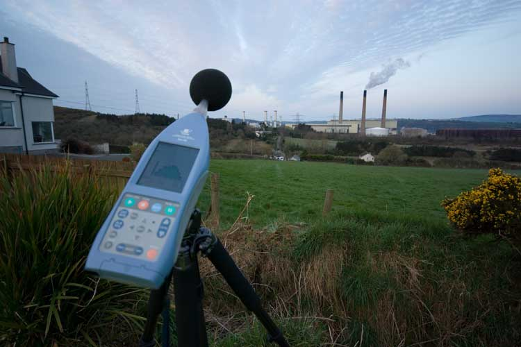Noise from an industrial plant being assessed