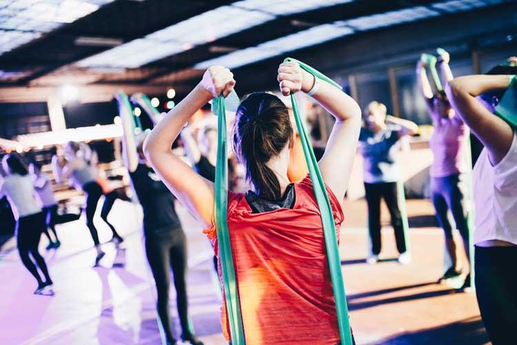A noisy gym class