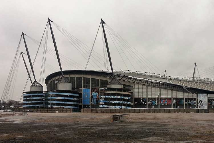 A noisy sports stadium