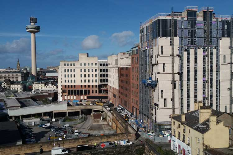 Construction of private rented scheme and mixed-use buildings